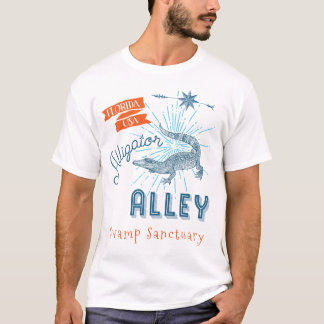 Alligator Alley Florida Everglades Swamp Sanctuary T-Shirt