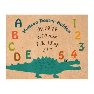 Alligator Alligator ABC 123 Baby Stats Queork Photo Prints