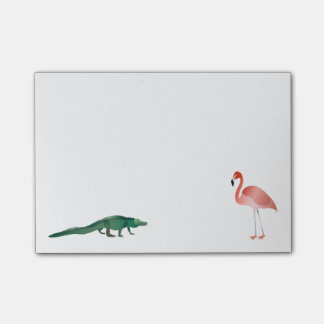 Alligator And Flamingo Post-it Notes