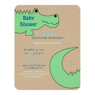 Alligator Baby Boy Shower Invitations