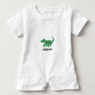 Alligator Baby Romper