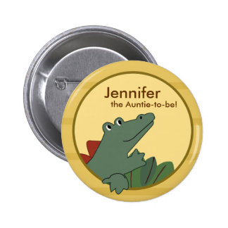 Alligator Baby Shower or Birthday Personalized 2 Inch Round Button
