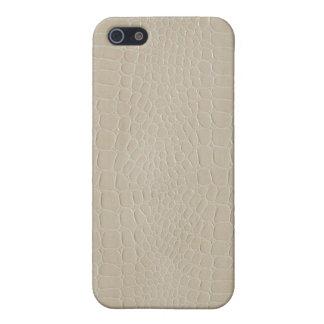 Alligator Beige Case For iPhone 5/5S