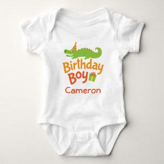 Alligator Birthday Boy Personalized Party T-shirt