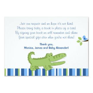 Alligator Blue/Green RSVP Enclosure Cards