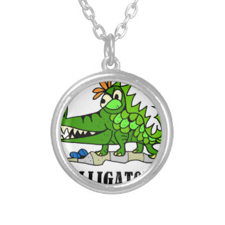Alligator by Lorenzo © 2018 Lorenzo Traverso Silver Plated Necklace