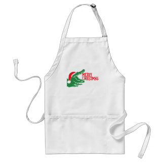 Alligator christmas apron