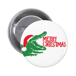 Alligator christmas button
