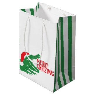Alligator christmas gift bag