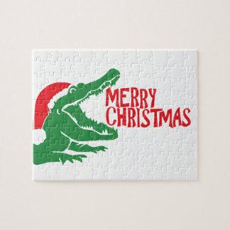 Alligator christmas puzzle
