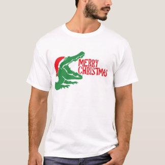 Alligator christmas T-shirt