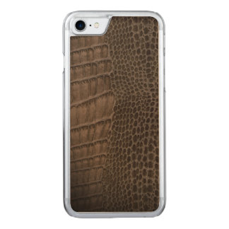 Alligator Classic Reptile Leather (Faux) Carved iPhone 8/7 Case