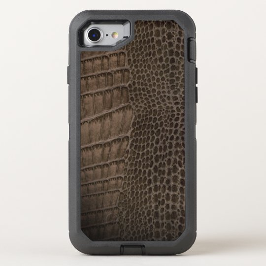 Alligator Classic Reptile Leather (Faux) OtterBox Defender iPhone 7 Case