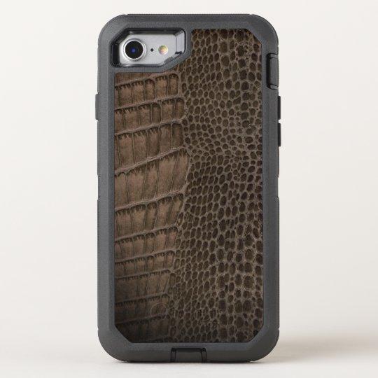 Alligator Classic Reptile Leather (Faux) OtterBox Defender iPhone 8/7 Case