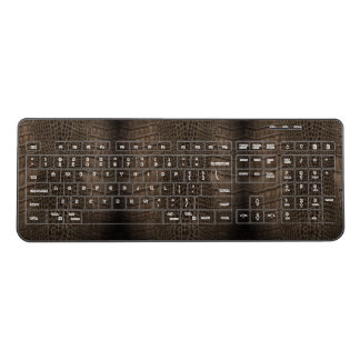 Alligator Classic Reptile Leather (Faux) Wireless Keyboard