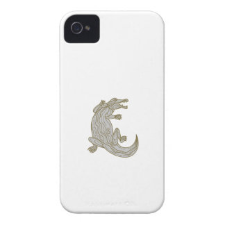 Alligator Climbing Up Mono Line iPhone 4 Case-Mate Case