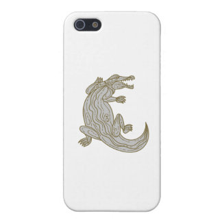 Alligator Climbing Up Mono Line iPhone 5/5S Cover