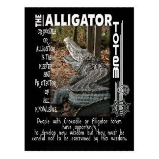 ALLIGATOR / CROCODILE TOTEM POSTCARD