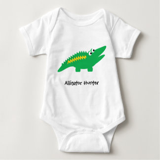 Alligator Customizable Text Baby Bodysuit