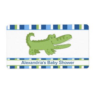 Alligator Customized Large Water Bottle Sticker