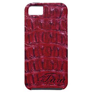 Alligator Designer iPhone 5 Skin (burgundy) Case For The iPhone 5