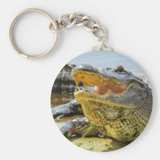 Alligator. Face to face Keychain