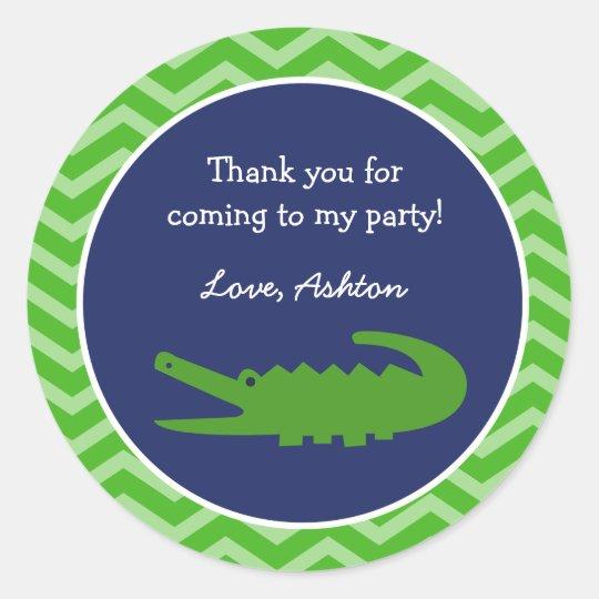 Alligator Favour Stickers