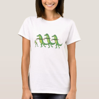 Alligator & Frog Chorus line T-shirt