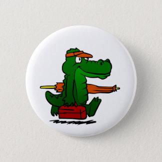 Alligator going to the beach 2 inch round button