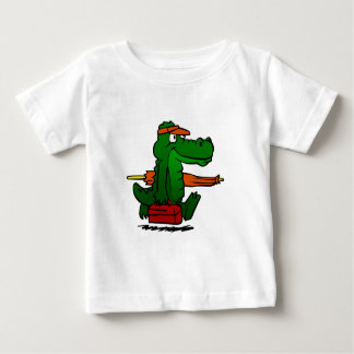 Alligator going to the beach baby T-Shirt