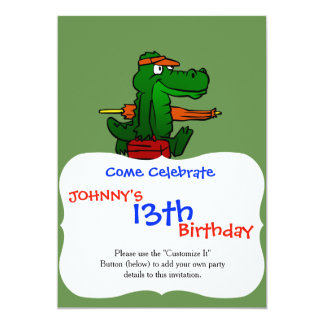 Alligator going to the beach card