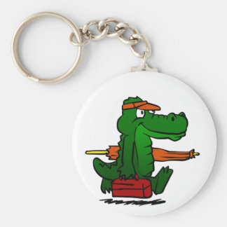 Alligator going to the beach keychain