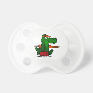 Alligator going to the beach pacifier