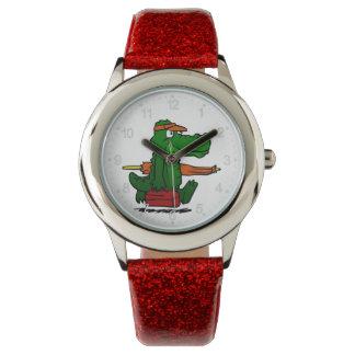 Alligator going to the beach watch