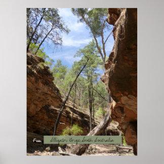 Alligator Gorge, South Australia Poster