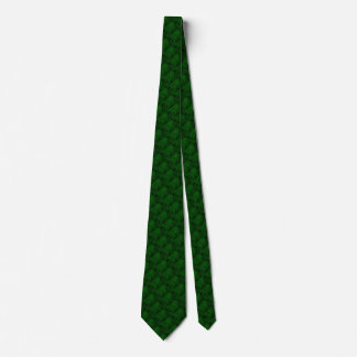 Alligator Green Faux Leather•Double Sided Tie