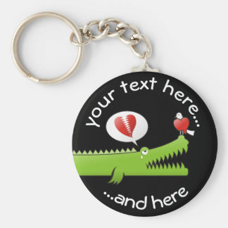 Alligator in Love Keychain