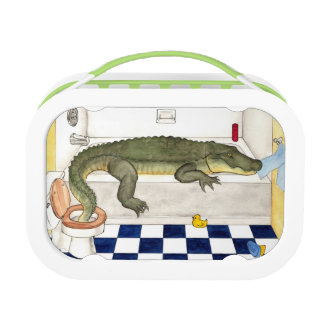 Alligator in the bathtub lunch box