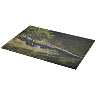 Alligator in the Sun Cutting Board