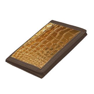 Alligator   Leather Look Tri-fold Wallet