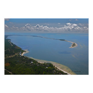 Alligator Point, Florida Aerial Photograph Poster