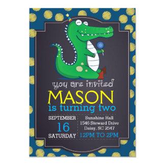 Alligator Polka Dot Invitation
