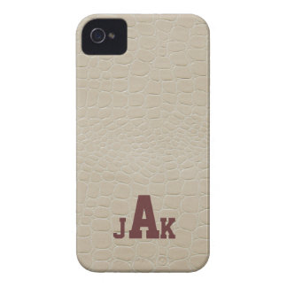 Alligator Print Monogram Case-Mate Case