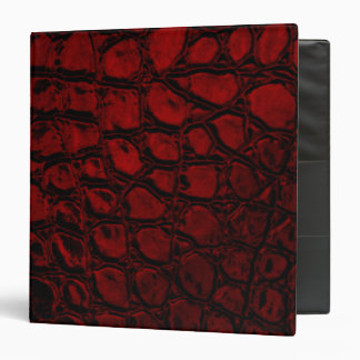 Alligator Red Faux Leather Binder