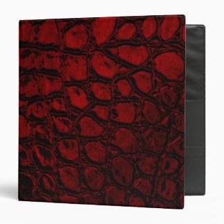 Alligator Red Faux Leather Binder