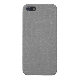 Alligator Silver Grey iPhone 5/5S Cover