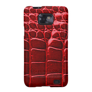 Alligator Skin Red Samsung Galaxy S Samsung Galaxy S2 Cover