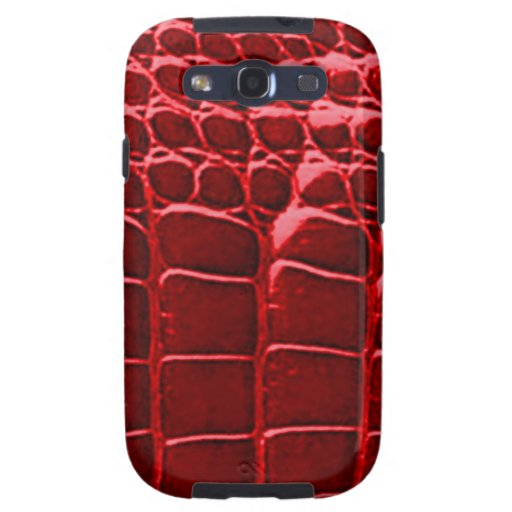 Alligator Skin Red Samsung Galaxy S Galaxy S3 Covers