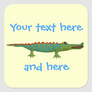 Alligator Square Sticker