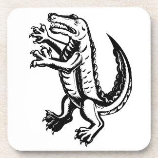 Alligator Standing Scraperboard Coaster